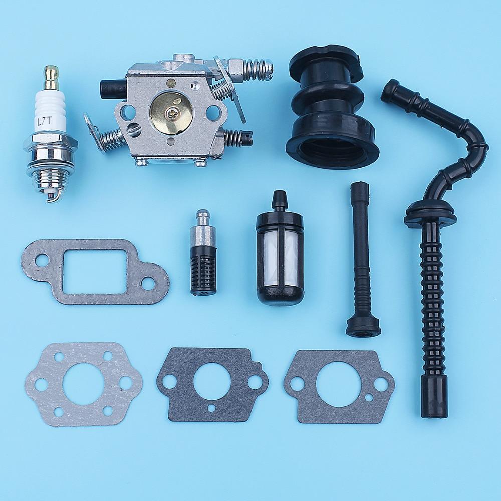 Carburetor Intake Manifold Fuel Oil Filter Line Kit For