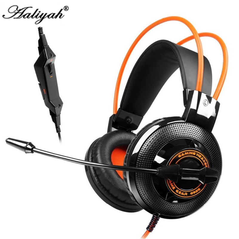 Aaliyah 2017 Somic G925 Gaming headset Headphones with Microphone Stereo Bass Earphones Volume Control for Computer for PC Gamer high quality gaming headset with microphone stereo super bass headphones for gamer pc computer over head cool wire headphone