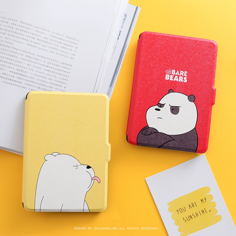 Cartoon bear Marble Magnet PU Flip Cover for Amazon Kindle Paperwhite 1 2 3 449 558 Case 6 inch Ebook Tablet Case Leather Case xx fashion pu leather cute case for amazon kindle paperwhite 1 2 3 6 e books case stand style protect flip cover
