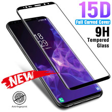 15D 9H Full Curved Tempered Glass For Samsung Galaxy S8 S9 Plus Note 8 9 Screen