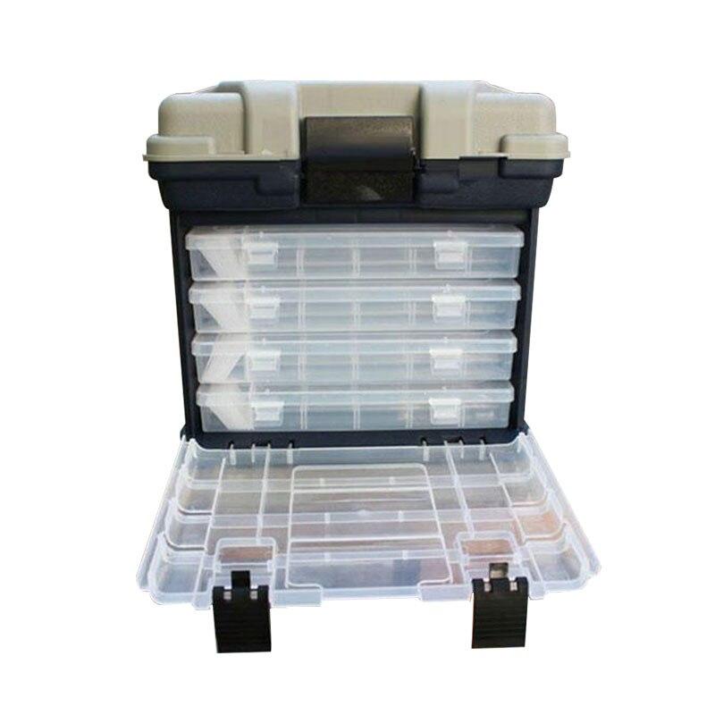 Портативный Открытый 5 Слои рыболовные снасти инструмент большой ящик для хранения с ручкой Пластик большой рыболовная коробка морские рыболовное судно инструмент