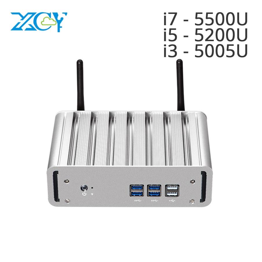 XCY Mini PC Core i7 5500U i5 5200U i3 5005U Windows 10 HTPC TV box HD Graphics 5500 Wifi Hdmi Micro PC Nuc Mini Computer