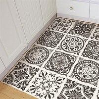 New creative black/white style PVC floor sticker Bedroom Study Room waterproof non slip wear resistant floor stickers home decor