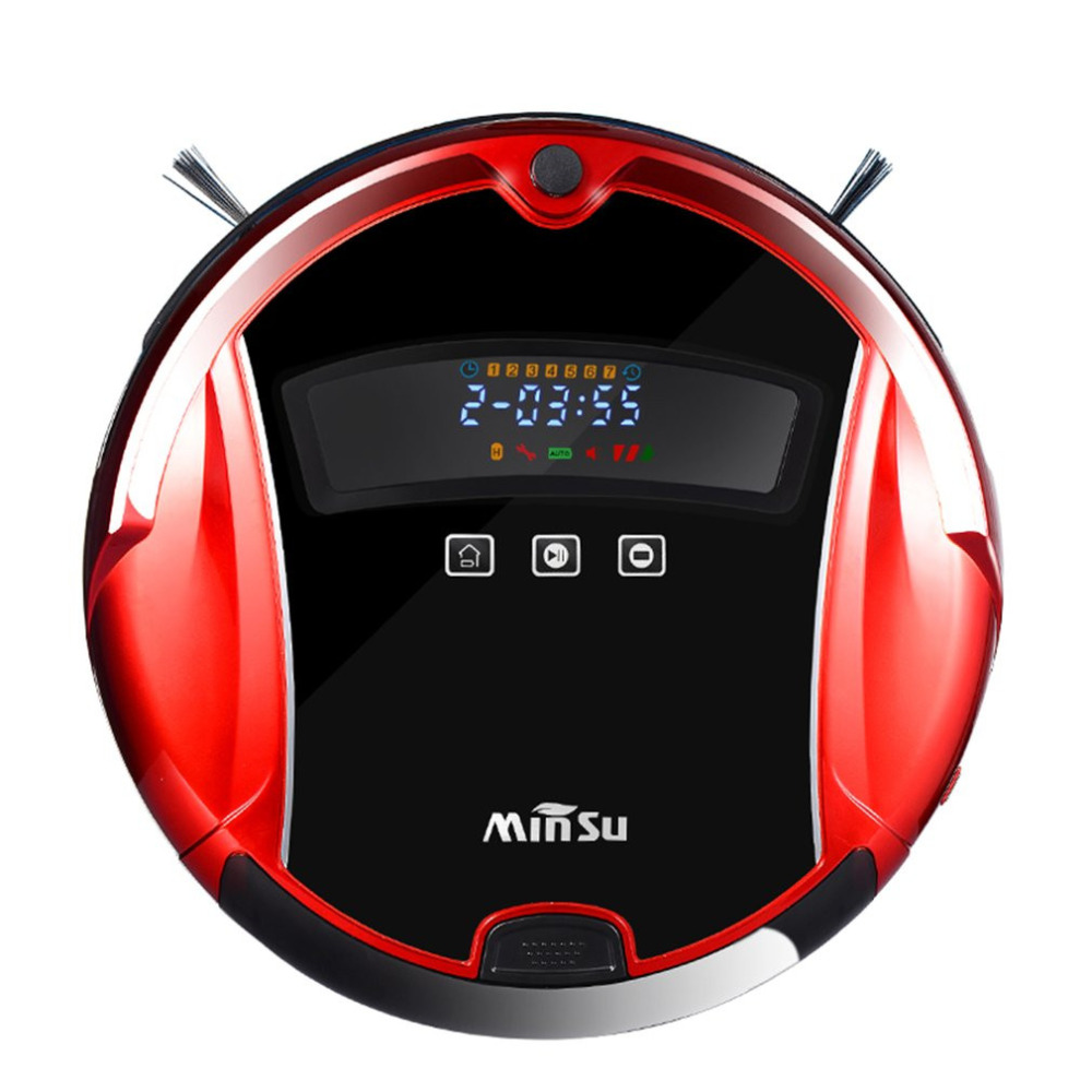 Robot Vacuum Cleaner Intelligent Self-Charging Wet Dry Vacuum with Water Tank, Fur and Allergens, home Designed <font><b>for</b></font> <font><b>Hard</b></font> Floor