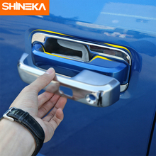 цена на 8pcs Chrome Car Door Handle Bowl Covers Trim Decoration ABS Fit For Ford F150 F-150 2015 2016