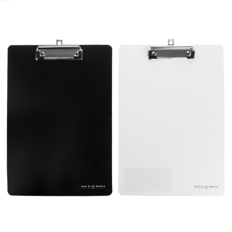 ZHUTING High Quality PP+Stainless Steel A4 Clipboard Writing Pad File Folders Document Holders School Office Stationery