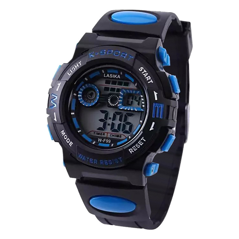Multi Function Alarm Clock Student Waterproof Sports Fashion Electronic Watch Children'S Watches Kids Les Digital Sport #4a11