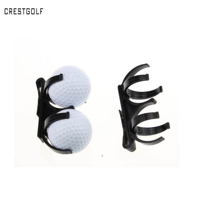 CRESTGOLF 2pcs/5pcs/lot Golf Ball Pick Up Tool with 2 Retriever Ball Clamp Golf Ball Holder Clip Accessories