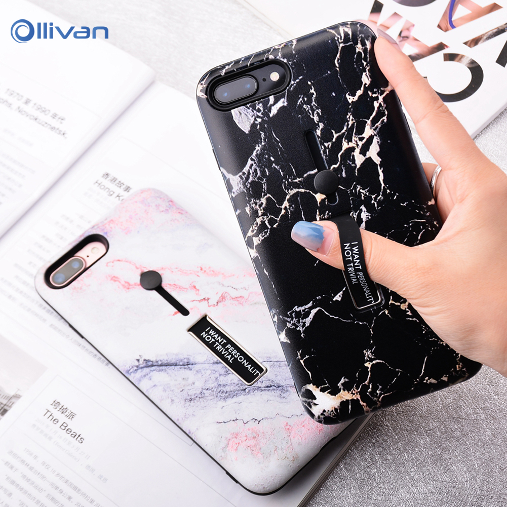 Fashion Hidden Bracket Phone Case For Huawei Mate 20 Lite P20 Silicon Marble Holder Case for Huawei P20 Mate 20 10 Lite Pro Capa