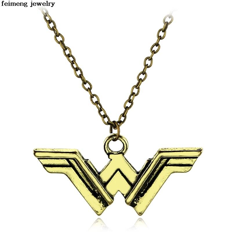 2017 оптовая продажа Wonder Woman воротник de Oro de la Mujer маравилла Диана Принц Шарм Jewelry супергероя женщина подарок