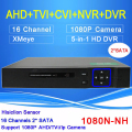 Hisiclion Sensor Blue-ray shell Two SATA 16 Channel Five in One Coaxial TVI NVR AHD DVR Only Free shipping To Russia