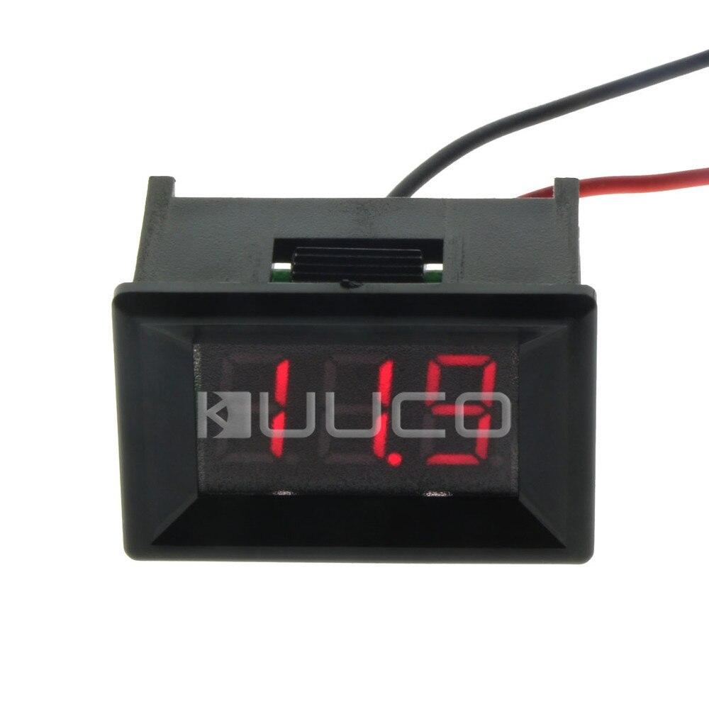 """Digital Meter 0.36"""" Red LED Digital Voltmeter DC 3.<font><b>2</b></font>~30.0V Voltage Meter Tester DC 12V 24V Car Battery Condition Monitor Meter"""