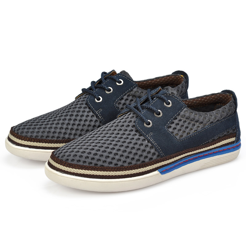 Serene-Men-Flat-Loafers-Suede-Leather-Air-Mesh-Stitching-Boat-Shoes-Casual-Shoes