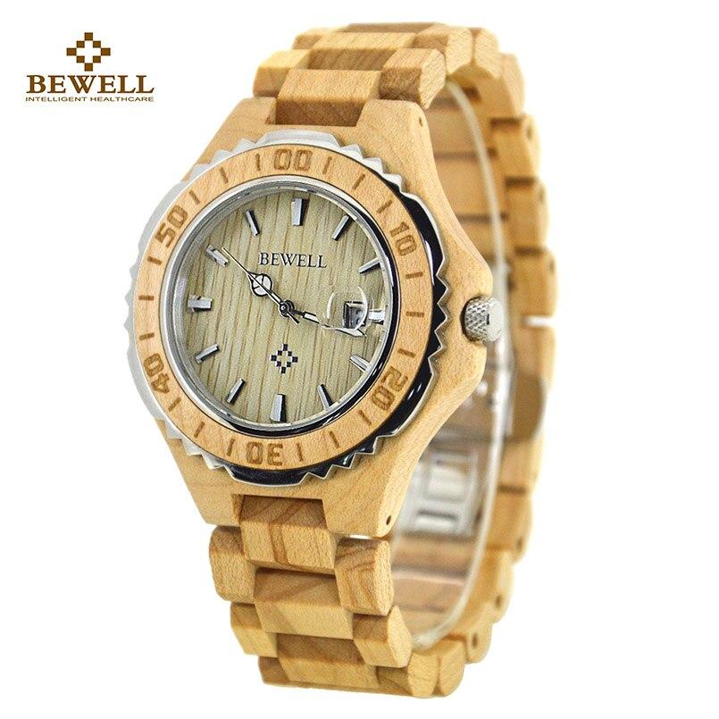3944c0d4ec7 Homens Relógio Masculino relógios de Pulso de Quartzo De Madeira de Sândalo  Madeira Calendário Pulseira de Relógio marca de Luxo Relógio com Caixa de  ...
