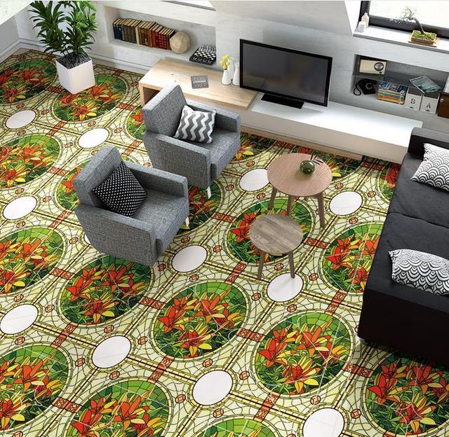 Custom 3d Floor Wallpaper Abstract Flor Room Landscape Pvc Vinyl Flooring Self Adhesive
