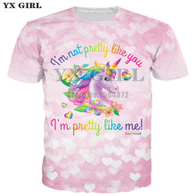2018 New Fashion Women/Men Summer T shirt Short Sleeve T-shirt Unisex 3d Print Unicorn Tees Tops Dropshipping