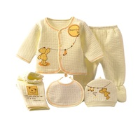 5pcs Set Newborn Baby Clothing Sets Baby Girls Boys Clothes Hot New Brand Baby Gift Infant