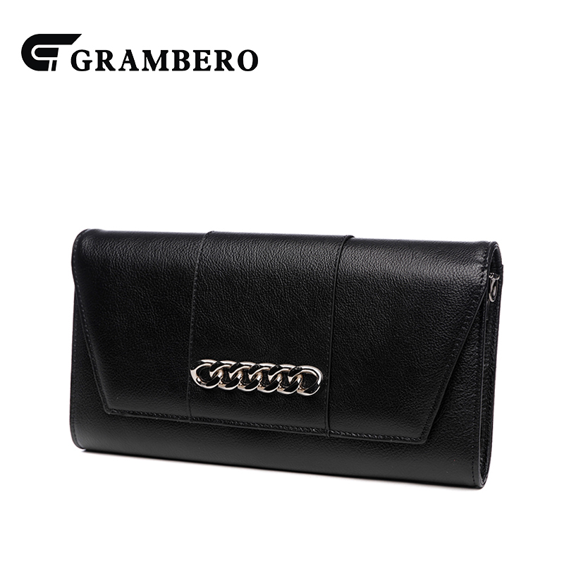 Fashion Chain Decoration Clutch Wallet Top Leather Solid Color Envelope Purse Elegant Women Modern Shoulder Crossbody Bag Gifts casual solid color top leather shoulder bag heart shaped decoration cover fashion women clutch wallet crossbody messenger bag