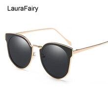 LF Новинка 2017 года Винтаж негабаритных Рамка кошачий глаз Солнцезащитные очки для женщин Для женщин Мода Большие круглые зеркальные прозрачный Cateye Защита от солнца Очки 6856