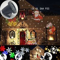 Outdoor Snowflake LED Stage Snow Lights Waterproof Light Christmas Holiday White & RGB Color Lighting Party 220V 110V