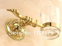 Copper antique  bathroom cup & tumbler holder, gold single toothbrush holder  bathroom accessories 28984G
