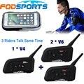 1 * V4 + 2 * V6 BT Interphone para árbitro de fútbol entrenador juez bicicleta inalámbrico Bluetooth Headset 3 la gente habla mismo tiempo