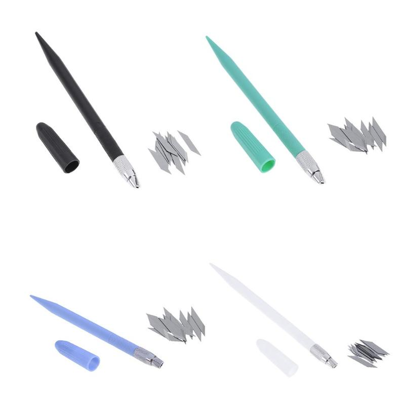 DIY Listed Fine Carving Knife Pen In Handles Cutter Engraving Carving Knife Pen Graver Tool With 12pcs Blades Cutting Supplies