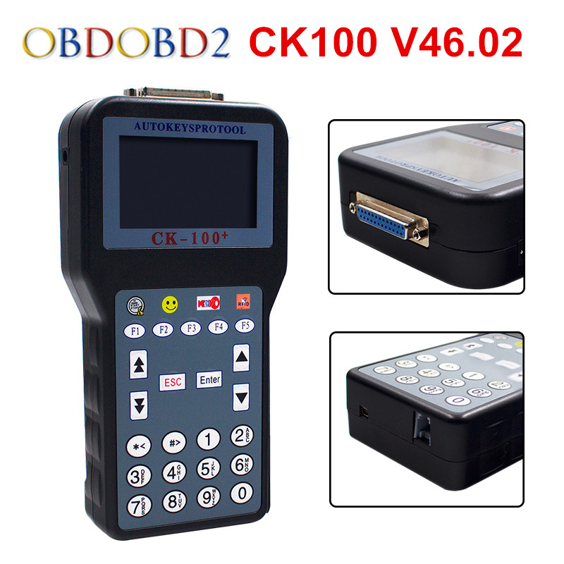 Newest CK100 V46.02 CK 100 OBD2 Car Key Programmer Latest Generation SBB Add More Car Models Support for Toyota G Chip Free Ship