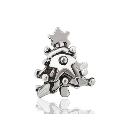 Макси маленькое Рождественское дерево костыль колокольчик Санта Клаус подвески-шармы Pandora Браслеты и браслеты для женщин DIY для украшения подарка - Цвет: Style 20