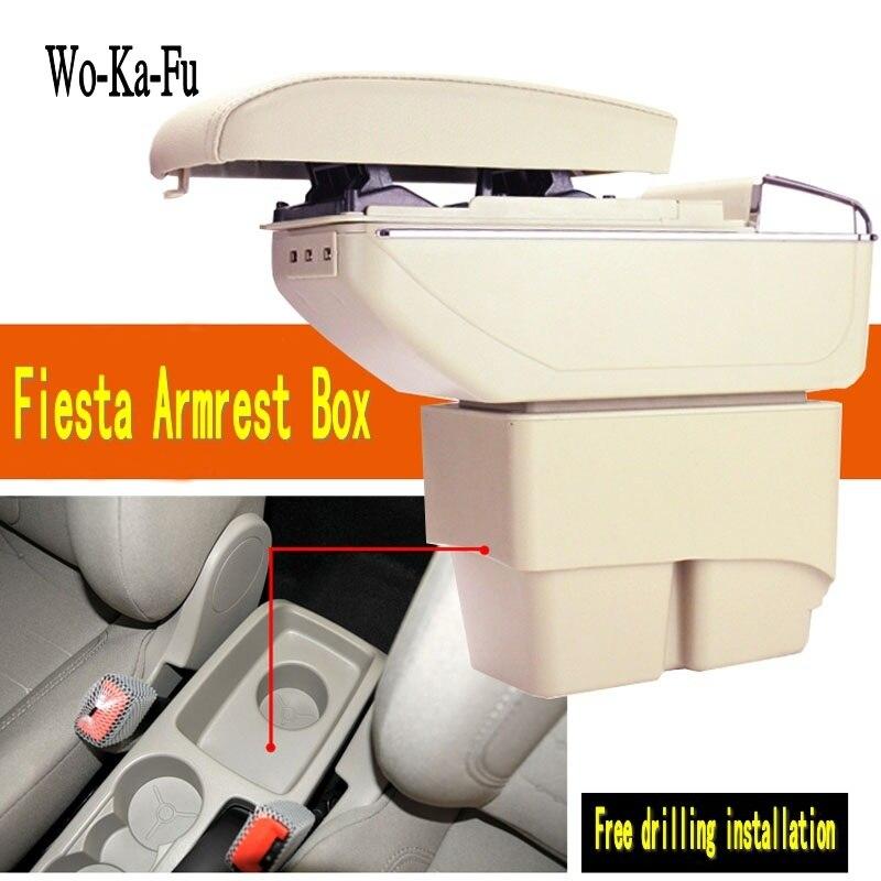 Für Ford Fiesta 3 MK7 armlehne box Hand schalter getriebe zentrum Speicher box Ford armlehne box zubehör 2009-2014