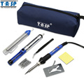 110 V/220 V 60 W Temperatura Ajustable Eléctrico de Soldadura De Hierro Pistola De Soldadura Kit de Herramientas de Reparación