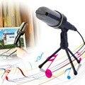 Новый 3.5 мм Студия Профессиональный Микрофон Микрофон с Подставкой Для Аудио Записи Звука Оптовая