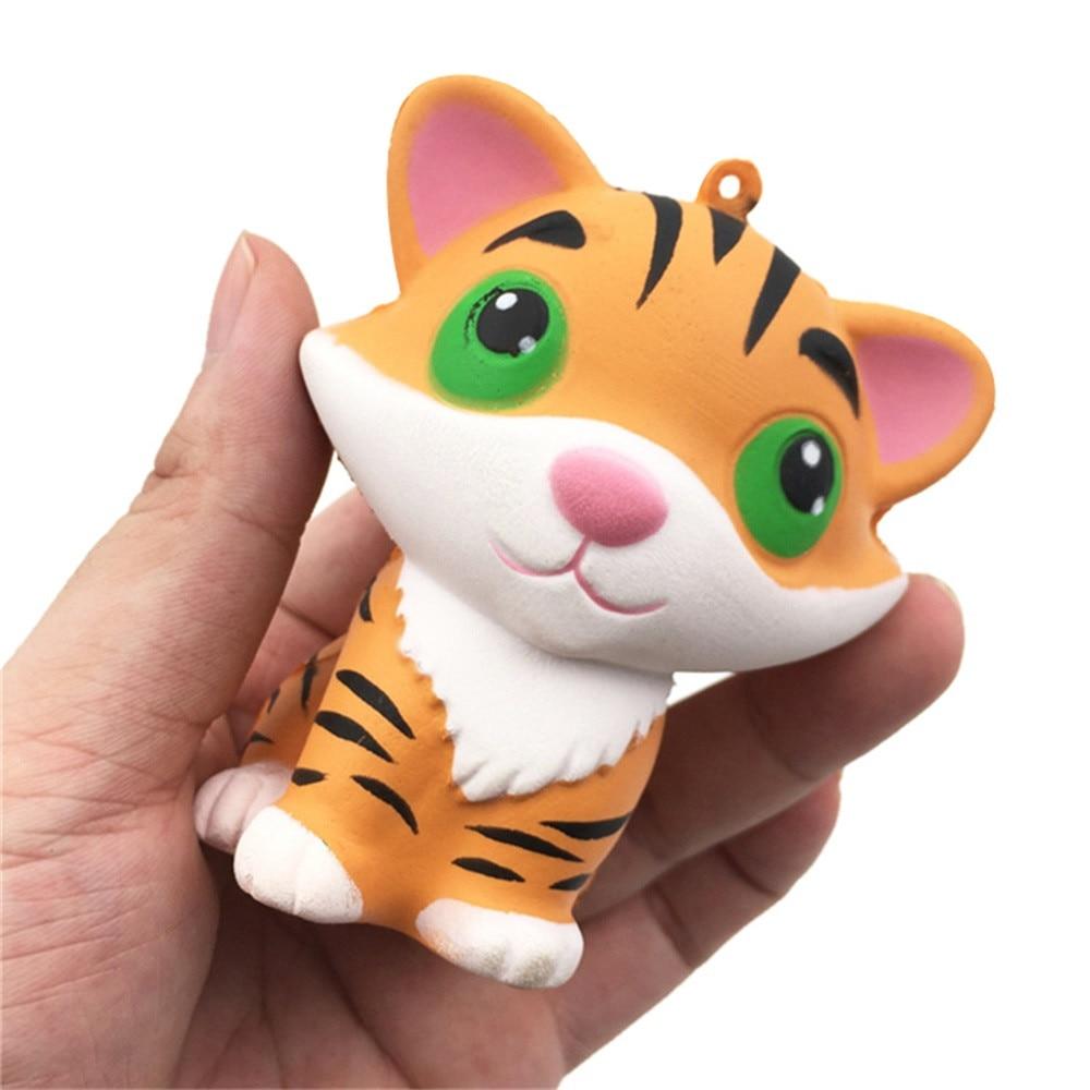 ISHOWTIENDA Squishy CuteTiger Squeeze Slow Rising Cream Scented Cure Decor Fun Amazing Toy Cartoon Cute Squishy #25