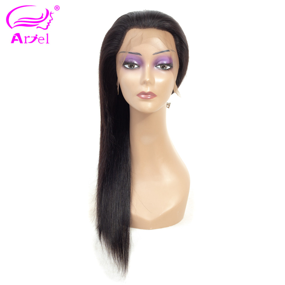 ARIEL Malaysian 13 4 Lace Front Human Hair Wigs Pre Plucked Remy Lace Frontal Wigs Straight
