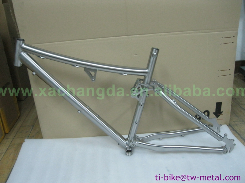 Bicycle-Frame Suspension Titanium with Hand-Brush Finished High-Quality