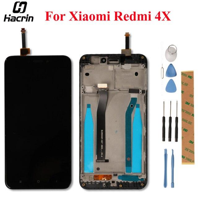 עבור Xiaomi Redmi 4X LCD תצוגה עם מסך מגע + מסגרת Digitizer עצרת החלפת מסך עבור Xiaomi Redmi 4X פרו