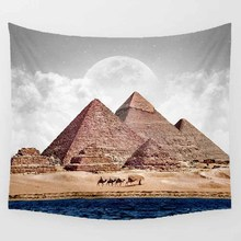 Hot sale fashion feather birds pyramid wall hanging tapestry home decoration tapiz pared L  200*150cm M 150*130cm