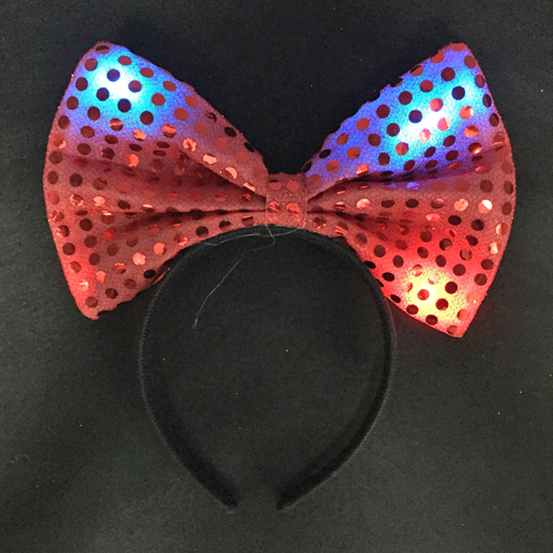 Led favores de la boda parpadeante Hairclip Night Shine Bowknot - Para fiestas y celebraciones - foto 4