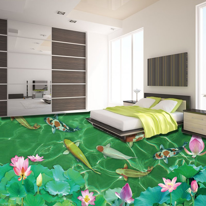 Free Shipping custom 3D Chinese style floor self-adhesive home decoration living room bathroom study flooring wallpaper mural free shipping custom 3d white marble floor stickers self adhesive home decoration living room bathroom flooring wallpaper mural