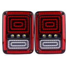 LED Automobile Tail Light for Jeep Wrangler Plastic Shell Water Resistant Decorated Low Consumption 2PCS OL – JT02 – 12V 18W