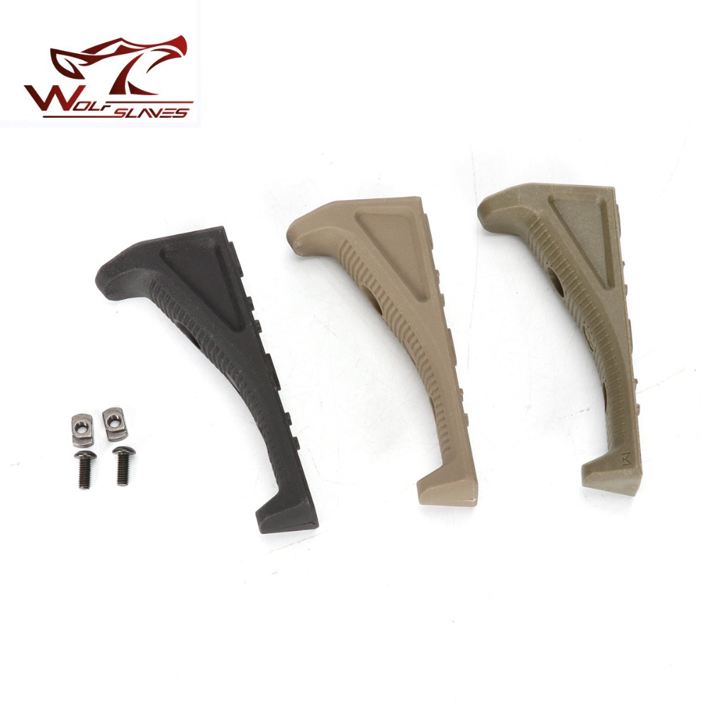 WOLFSLAVES Outdoor Hand Grip M-LOK Foregrip AFG Water G un Adjustable Hunting Grip Toy G un Accessories for NERF G un Grip(China)