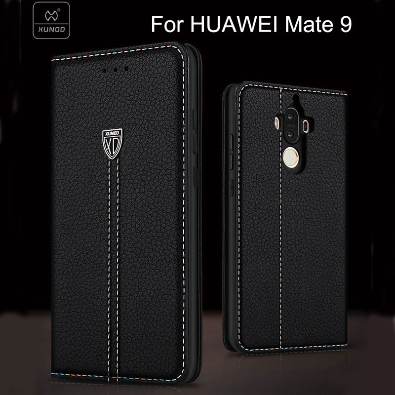 Xundd brand case For HUAWEI Mate 9 Luxury flip pu leather case for Mate 9 with phone holder function free shipping