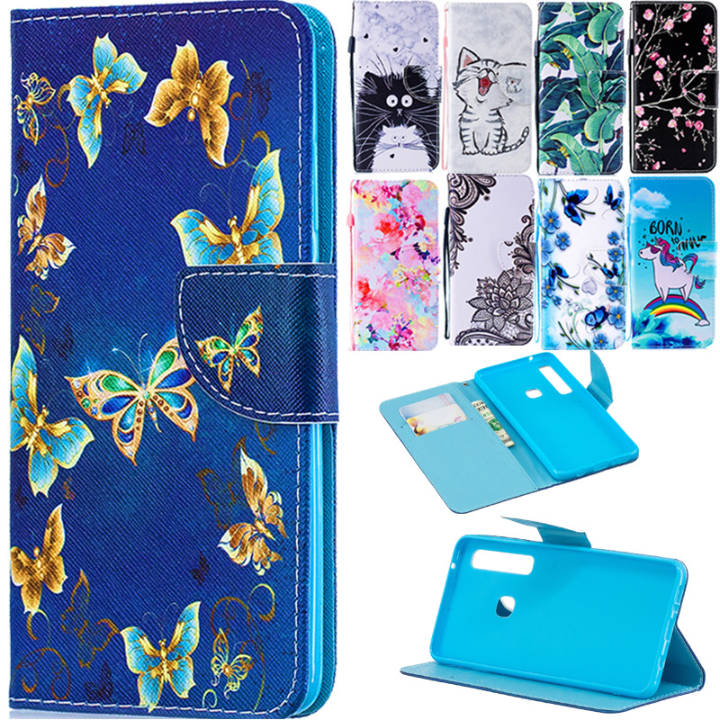 A9 2018 Case on for Fundas Samsung Galaxy A9 2018 Cover sFor Coque Samsung A9 2018 A92018 Covers Wallet Flip Stand Phone Case