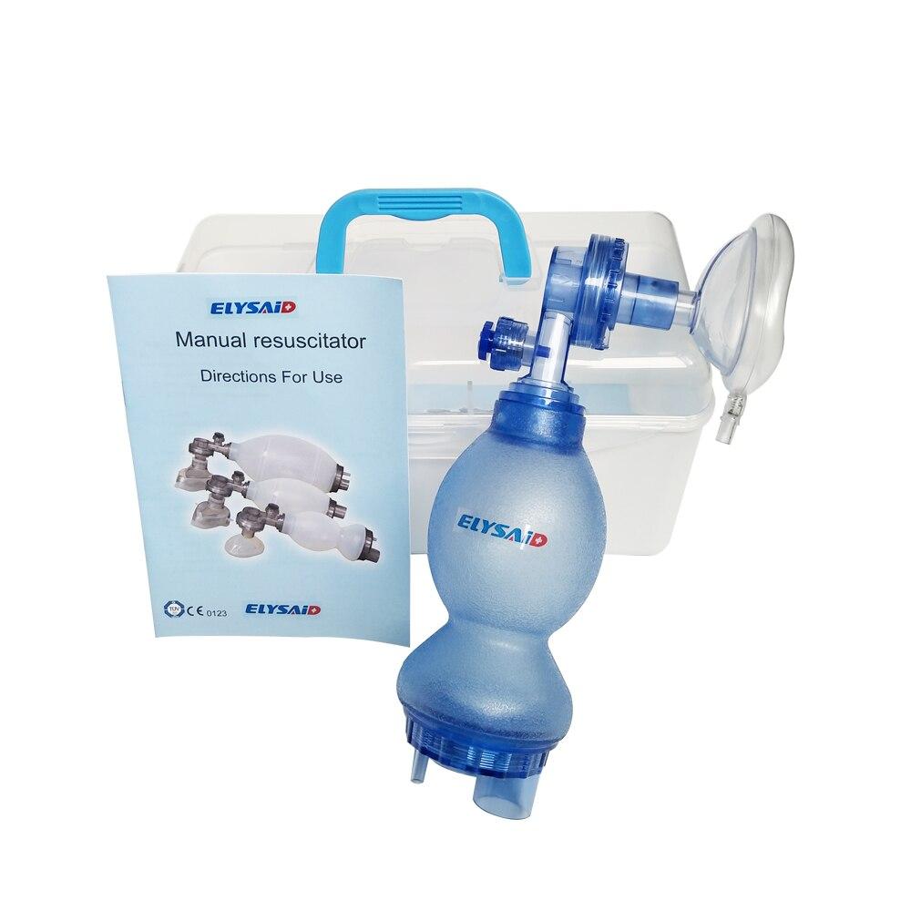 ELYSAID auto-assistance respirateur/Gel de silice premiers secours Silicone Ambu sac réanimation ensemble avec connecteur n cas manuel réanimation - 3