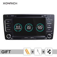 2 Din Android 9.0 Car DVD Player For Skoda Octavia 2 3 A 5 A5 Yeti 2009 2010 2011 2012 2013 Radio Head Unit Audio GPS Navigation