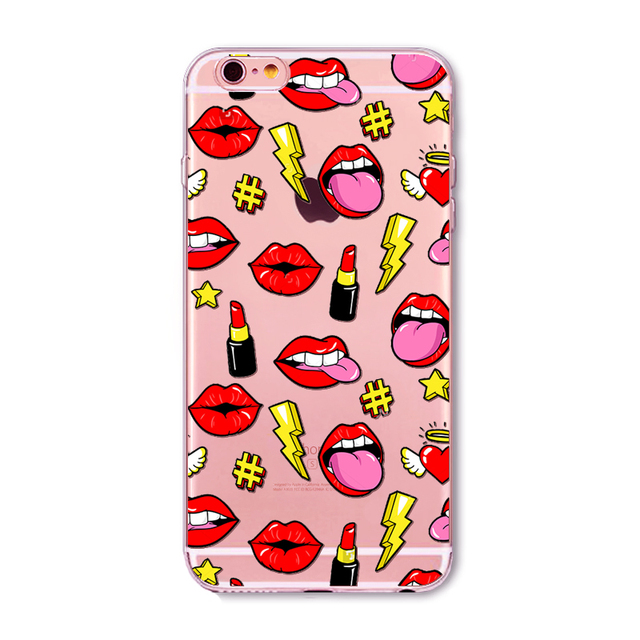 Graffiti Sexy Girl Kylie Lips Phone Case For iPhone 6 6S 7 5 5s SE 7Plus 4S