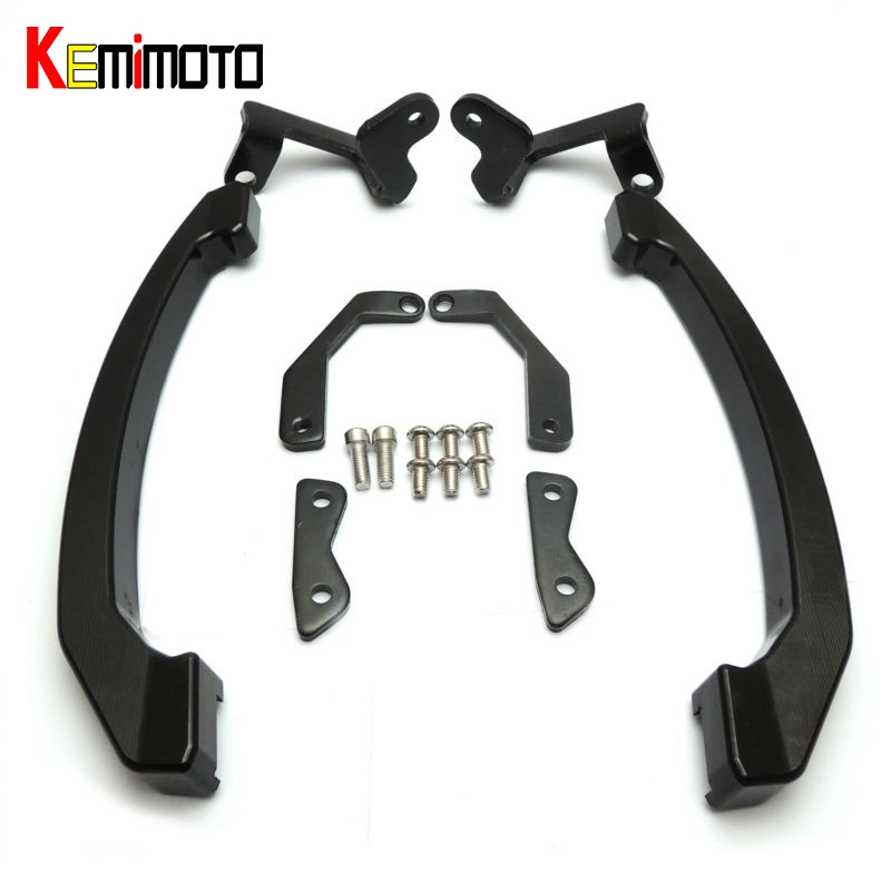 KEMiMOTO For Yamaha MT-07 MT07 MT 07 FZ07 Accessories CNC Rear Grab Bars Passenger Seat Hand Bar Rail Handle 2014 2015 2016 2017 for yamaha mt 07 mt 07 fz07 mt07 2014 2015 2016 accessories coolant recovery tank shielding cover high quality cnc aluminum