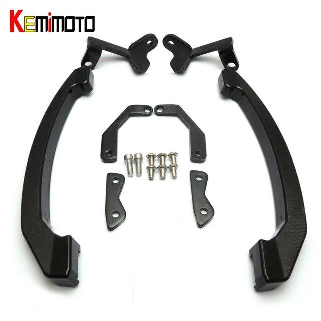 Aliexpress Com Buy Kemimoto Mt 07 Fz 07 Mt 07 Fz 07 Cnc Rear Grab Bars Passenger Seat Hand Bar