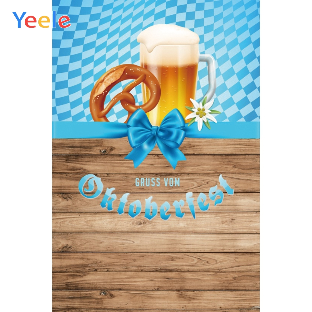 Yeele Oktoberfest Carnival Natural Wood Foods Beers Photography Backdrops Personalized Photographic Backgrounds For Photo Studio