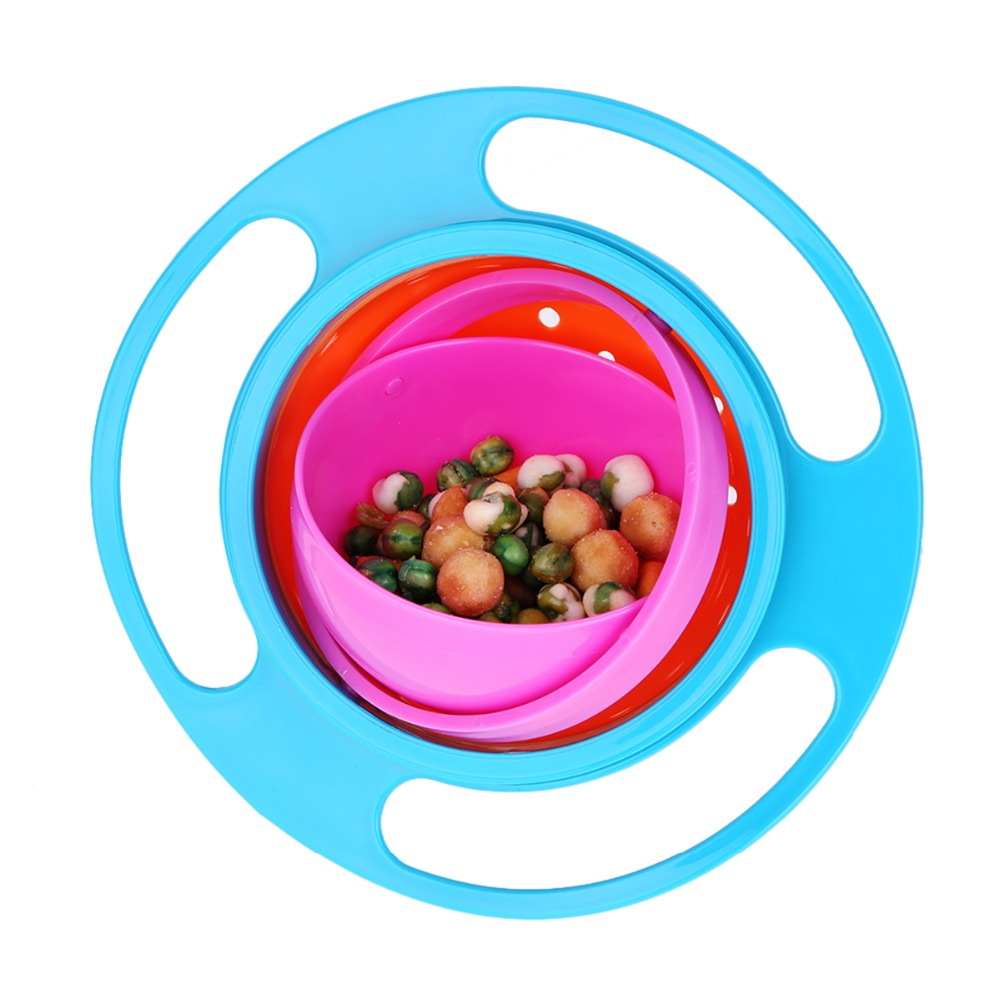 Baby Feeding Learning Dishes Bowl High Quality Assist Toddler Baby Food Dinnerware For Kids Eating Training Gyro Bowl in Baby Food Storage from Mother Kids